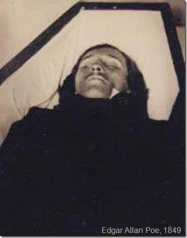 Edgar Allan Poe, död 1849 lecho muerte
