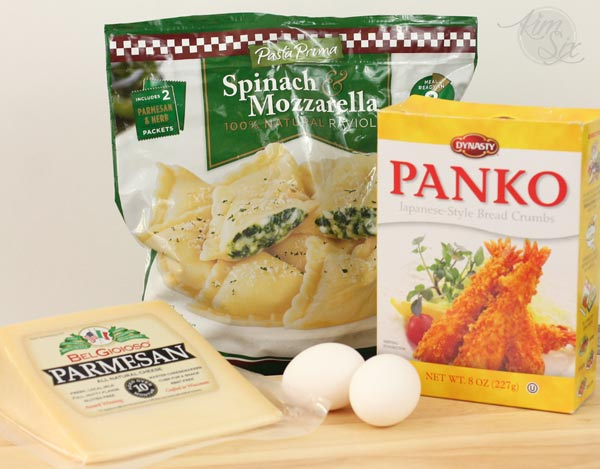 Ingredients for oven fried ravioli