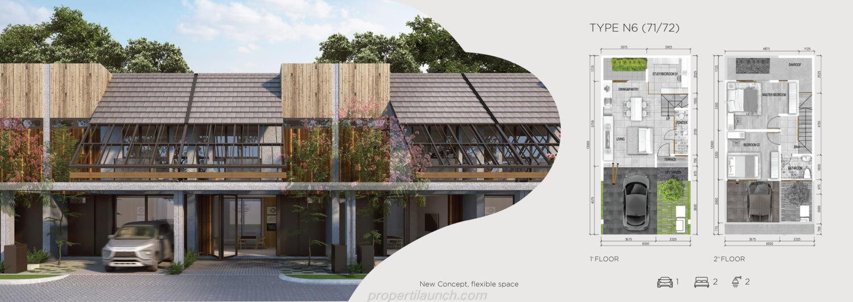 Rumah Asera Nishi Harapan Indah Bekasi Tipe N6