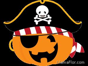 pirata halloween calabaza clipart pumpkin