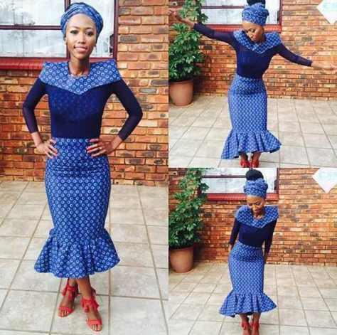 Traditional Shweshwe Dresses 2018 African Traditional Clothing 8