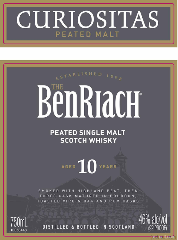 BenRiach 10-Year Curiositas Peated Malt