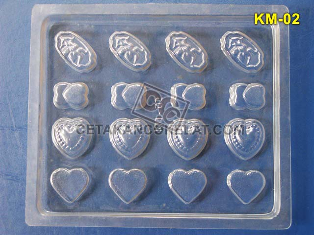 Cetakan Coklat KM002 KM02 KM2 KM cokelat love