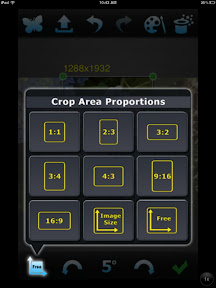 choosing Crop type in Perfect Photo