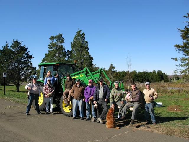 Ten of the 12 volunteers.