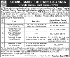 NIT Sikkim Recruitment 2016 indgovtjobs