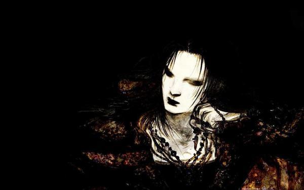 Dark Evil Girl Art, Phantoms