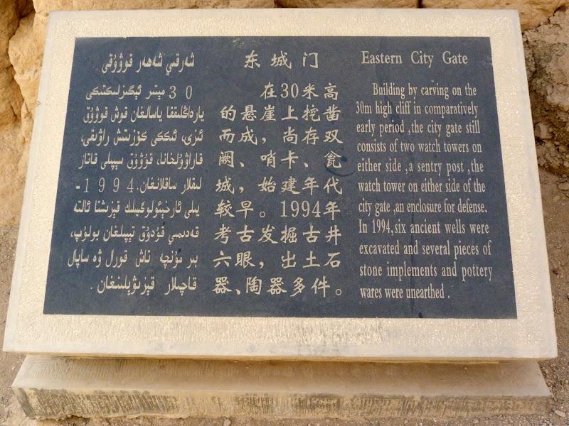 XINJIANG.  Turpan. Ancient city of Jiaohe, Flaming Mountains, Karez, Bezelik Thousand Budda caves - P1270779.JPG