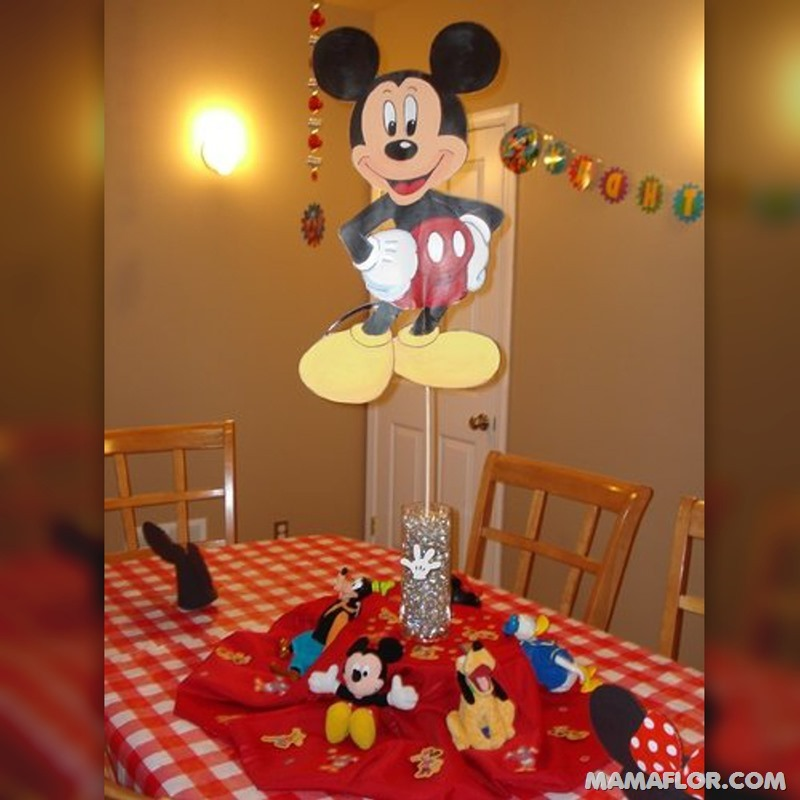 centro de mesa mickey y minnie mouse - 32