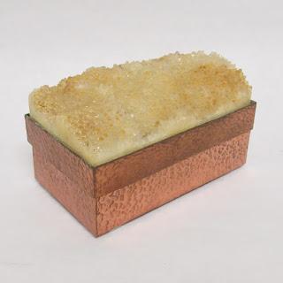 Geode & Hammered Copper Box