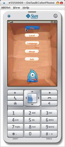 Aplikasi game yang saya buat menggunakan J2ME