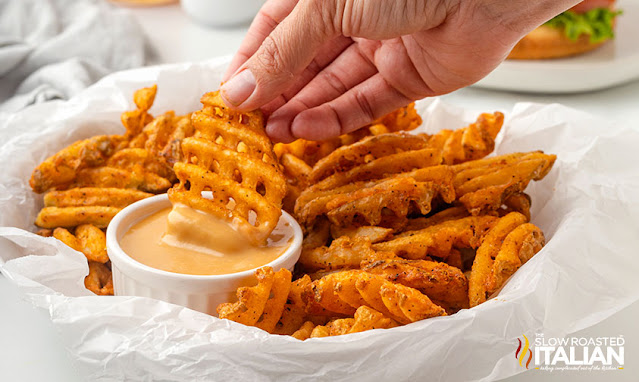copycat chick fil a sauce dipping a waffle fry