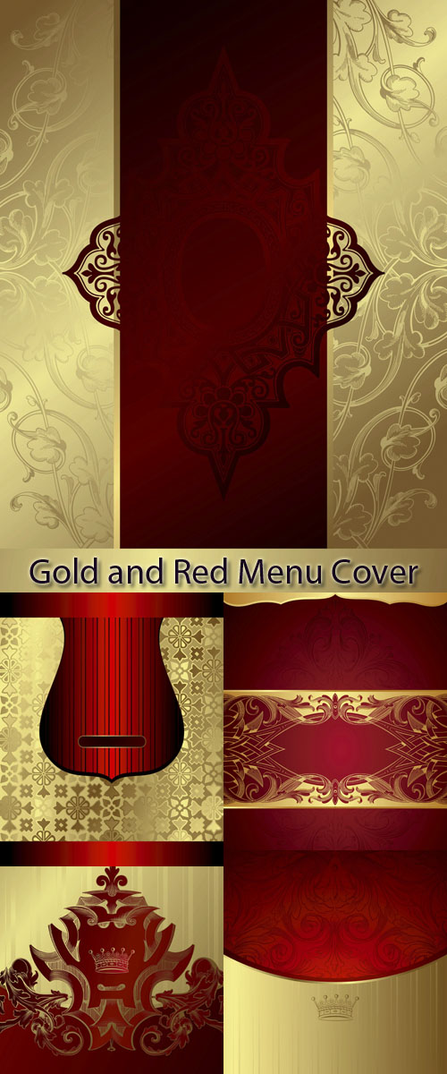 Stock: Gold and Red Menu Cover