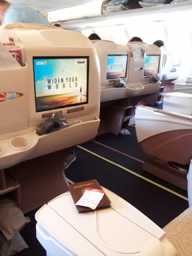 What a view, and plenty of leg room. From What's It Really Like to Fly Turkish Airlines Business Class?