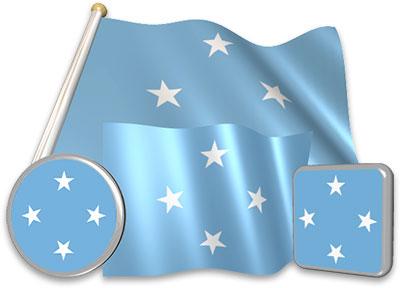 Micronesian flag animated gif collection