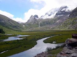 Lac Combal, vallon de la Lex-Blanche.