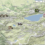 Localisation des photos au Kyrgyzstan Nord