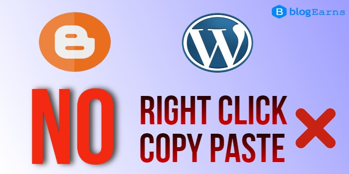 How to disable mouse click and copy paste in HTML - Blogger and WordPress