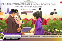 FKG Unissula Ambil Sumpah 29 Dokter Gigi Muda