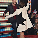 OIC - ENTSIMAGES.COM - Runner up - Austin Armacost and Emma Willis at the Celebrity Big Brother Final held at the Elstree Studios in London on the 24th September 2015. Photo Mobis Photos/OIC 0203 174 1069