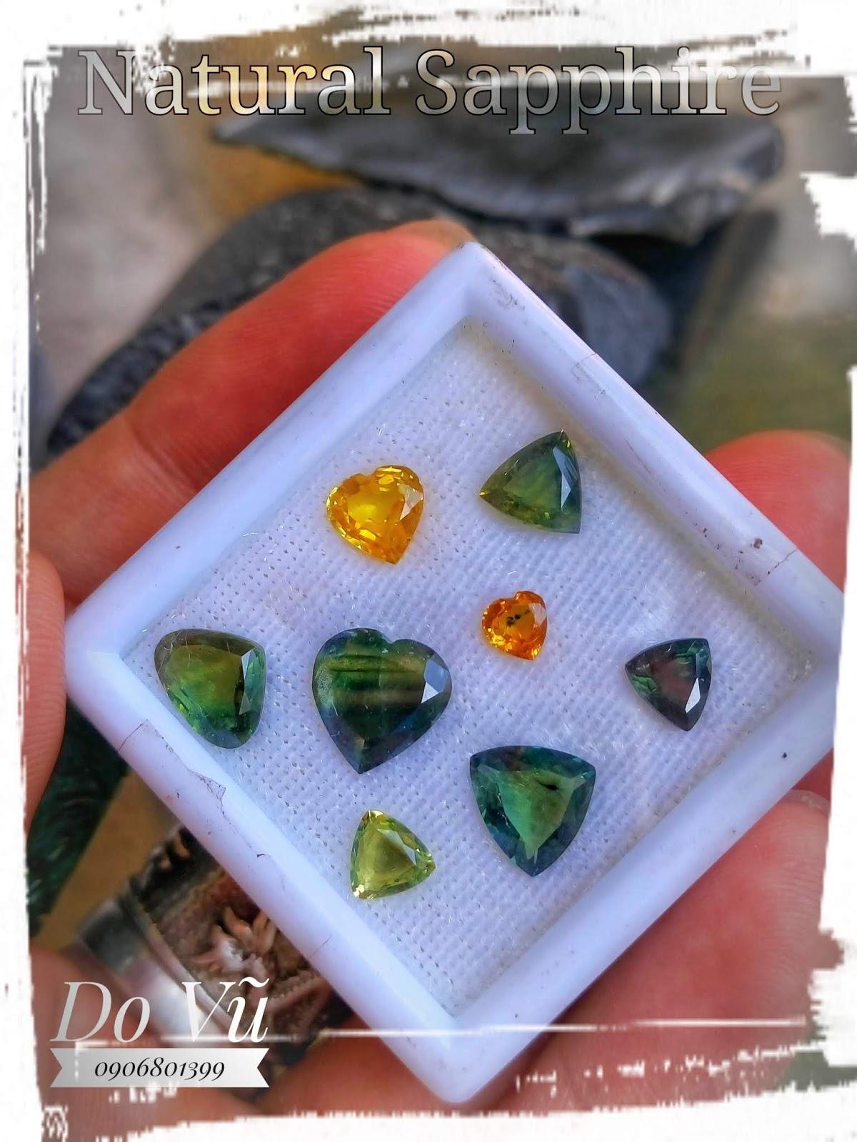 Đá quý Sapphire thiên nhiên, Natural Sapphire buôn hồ chất ngọc trong, lửa( 25/04/20, 01 )