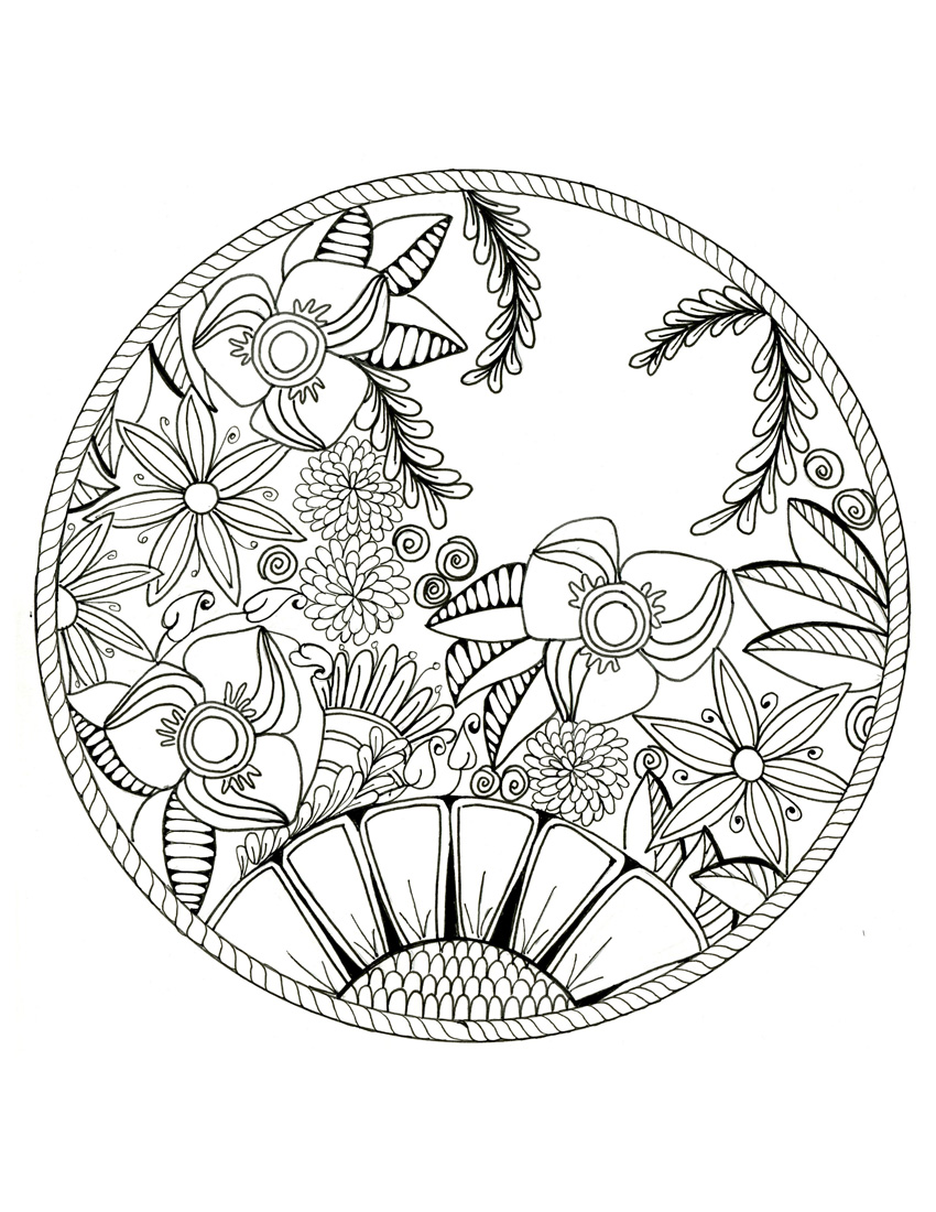Best 15 Lotus Flower Mandala Coloring