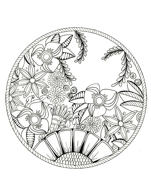 Printable  Lotus Flower Mandala Coloring Pages