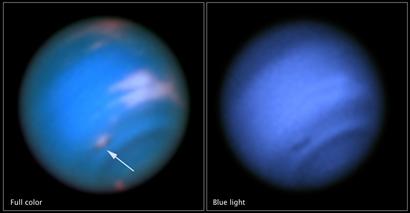 vórtice escuro na atmosfera de Netuno