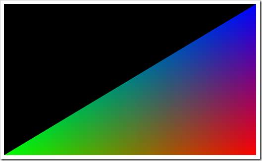 render triangle opengl