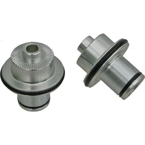 No Tubes QR Axle Caps, Front, 3.30 / Crest/Arch - Pair