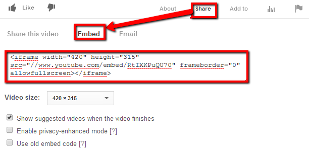 How to embed YouTube videos on 123ContactForm
