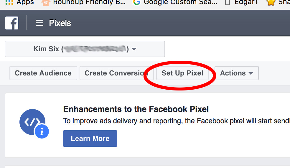 Creating Facebook Pixel for Blogger