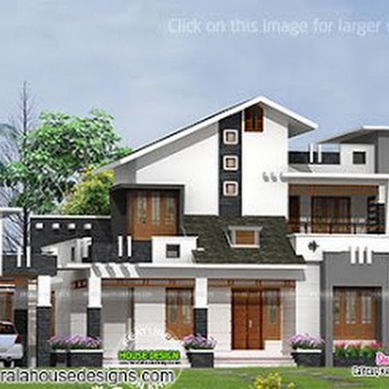 Contemporary mix home plan