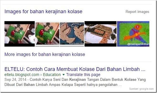 Deretan Sitelink Gambar dalam Hasil Penelusuran Web Google
