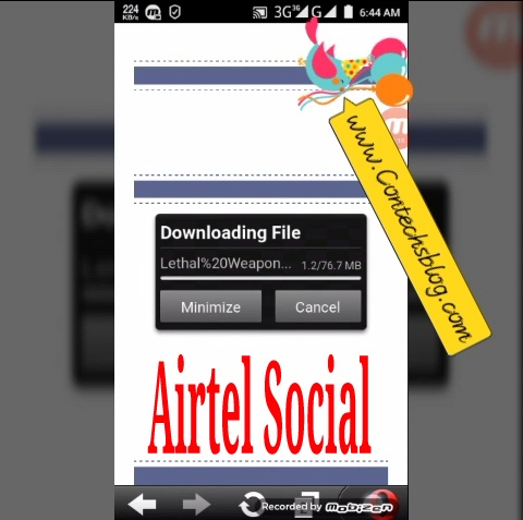 Airtel social data free browsing