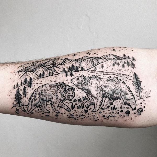esse_irmo_e_a_irm_do_grizzly_bear_tatuagem