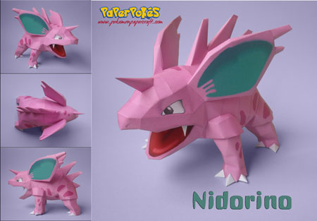 Pokemon Nidorino Papercraft v2