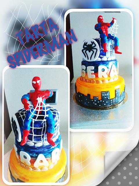 spiderman cake, tarta hombre araña, tarta spiderman