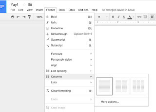 HOW DO I MAKE COLUMNS IN GOOGLE DOCS Google Product Forums - Google docs columns