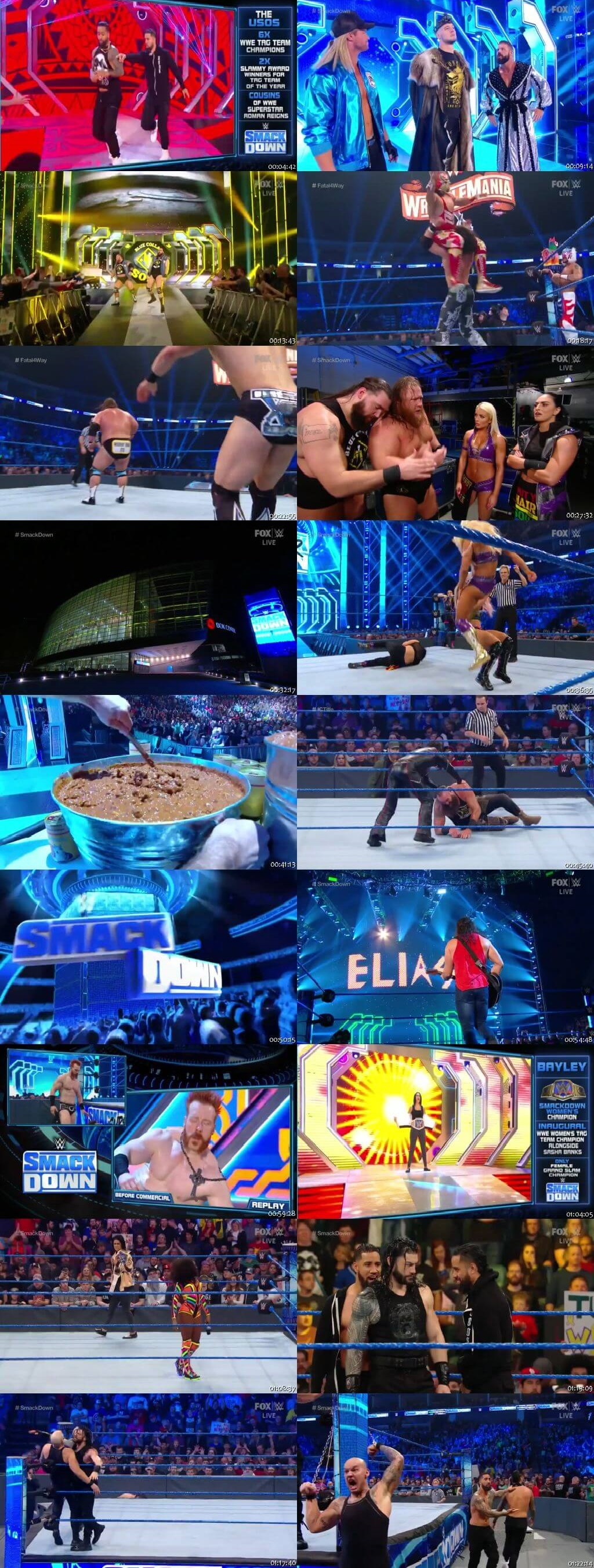 Screen Shot Of WWE SmackDown Live 31st January 2020 HDTV 480P 300MB