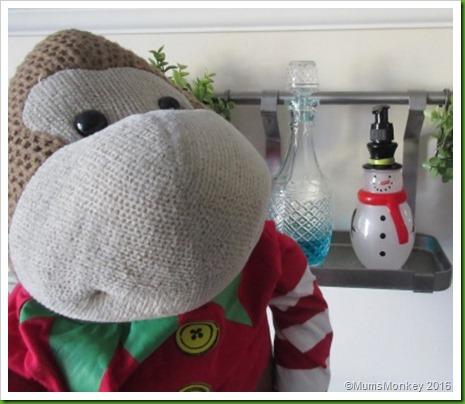 snowman handwash in the kitchen