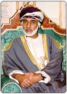 Oman Sultan HM Qaboos bin Said Al Said (born 18 November 1940) is the Sultan of Oman and its Dependencies. He rose to power after overthrowing his father, Said bin Taimur, in a palace coup in 1970. He is the 14th-generation descendant of the founder of the Al Bu Sa'idi dynasty.[