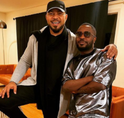 Actor, Ramsey Nouah Runs Into Tunde Ednut In The US (Photo)