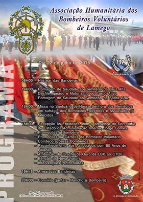 Programa – 139º Aniversário da Associação Humanitária dos Bombeiros Voluntários de Lamego