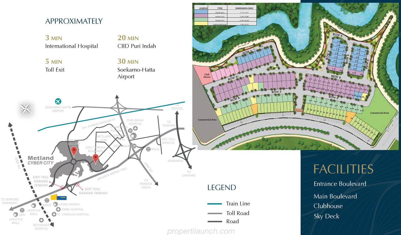 Peta Lokasi Metland Cyber City