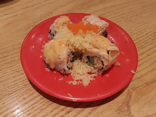 Salmon aburi sushi from Sushi Tei