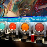 crazy tasty alcoholic slussies at Wet Willies in Miami, Florida, United States