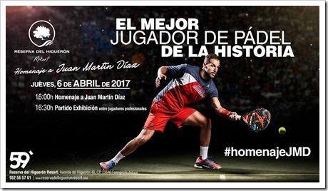 Homenaje al considerado por muchos el mejor jugador de pádel de la historia: Juan Martín Díaz. Reserva del Higuerón. Abril 2017.