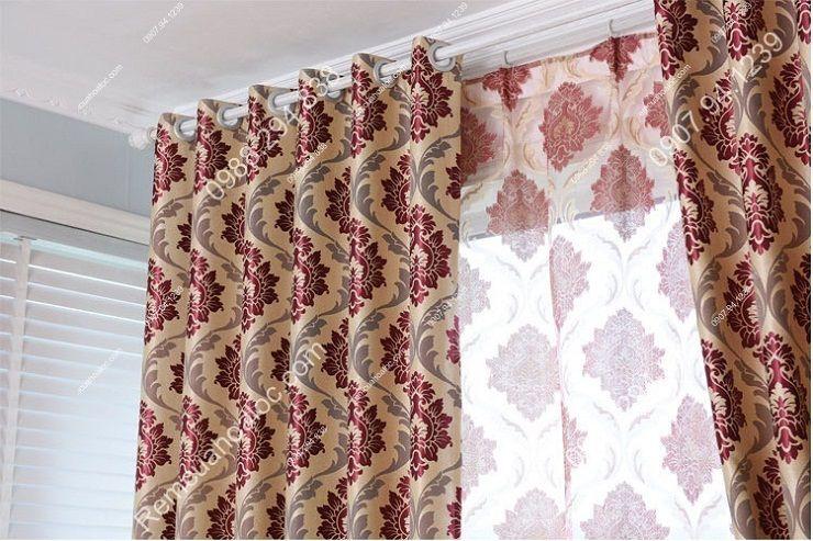 Rèm vải đẹp hà nội vector hoa đông á 10