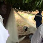 A fisherman in Bapla making a fishing net for fingerlings (3).JPG